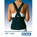 Cinta lombar proteção laboral Orliman