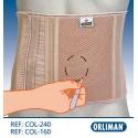 Cinta abdominal para ostomizados/ostomias sem orifício 16 cm Orliman
