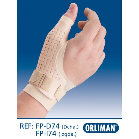 Ortótese forrada postural de polegar transpirável