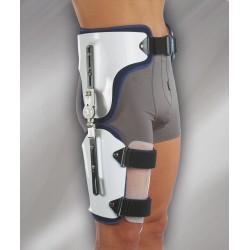 Ortótese funcional para articulação da anca com ajuste de flexão/extensão e abdução/adução