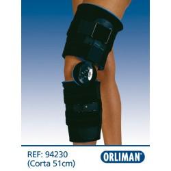Ortótese de joelho com articulação de flexo-extensão curta 51 cm 94230