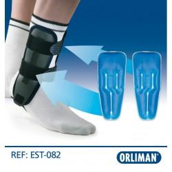 Estabilizador de tornozelo com bolsas de gel e placas termoplásticas Valtec Gel EST-082