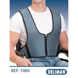 Arnês colete com zip 1000