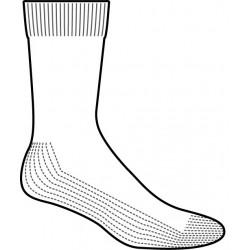 Meia diabetico meio da perna base acolchoada preta