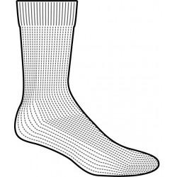 Meia diabetico meio da perna totalmente acolchoada preta