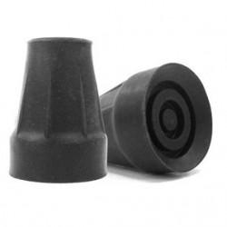 Ponteira para canadiana 16 mm borracha preta