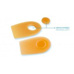 Calcanheira de silicone co oríficio extraível para esporão do calcâneo PRIM