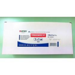 Compressa Tecido Não Tecido (TNT) Estéril 5x5 cm (caixa 100 x 5 Unidades) Batist