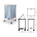Carro transporte de roupa suja simples c/ tampa - JMS